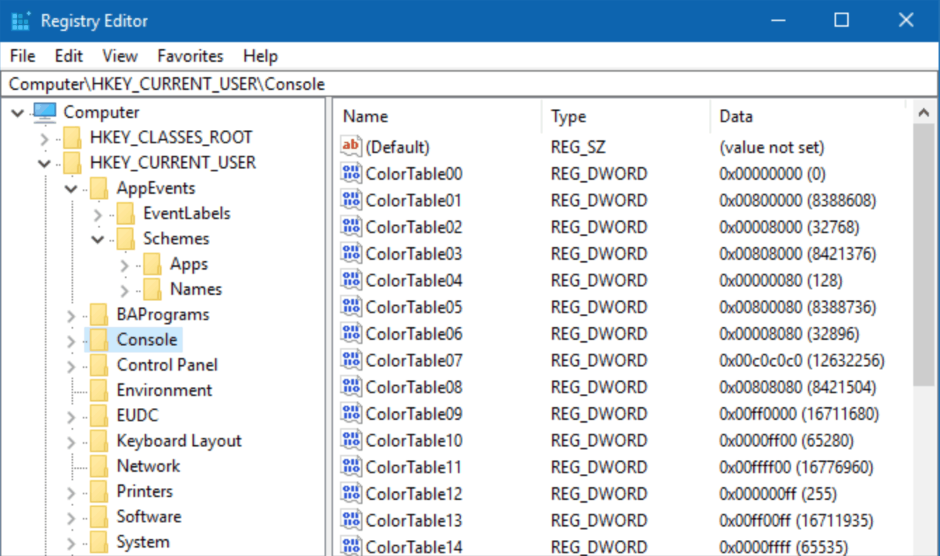 registry cleaner shown on windows