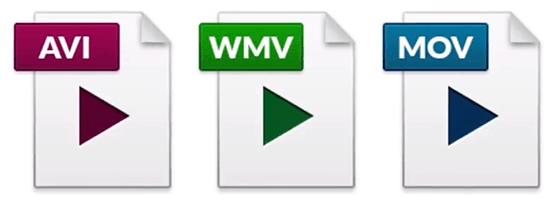 video formats icons